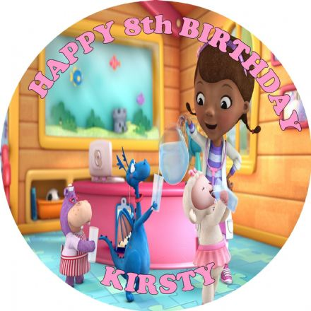 Doc Mcstuffins Edible Cake Topper
